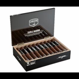 Camacho Triple Maduro Robusto - 20 cigars open box