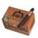 Arturo Fuente 858 Maduro - closed box with cigar